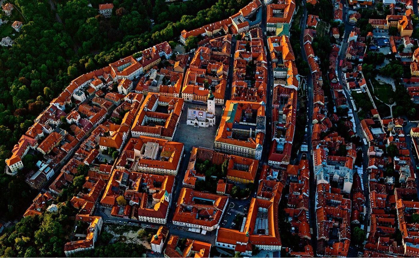 The Old Town In Zagreb Croatia Proclaimed A Free Royal City On Gradec The Hill In 1242 Architecture And Urban Living Modern A Zagreb Royal City Croatia