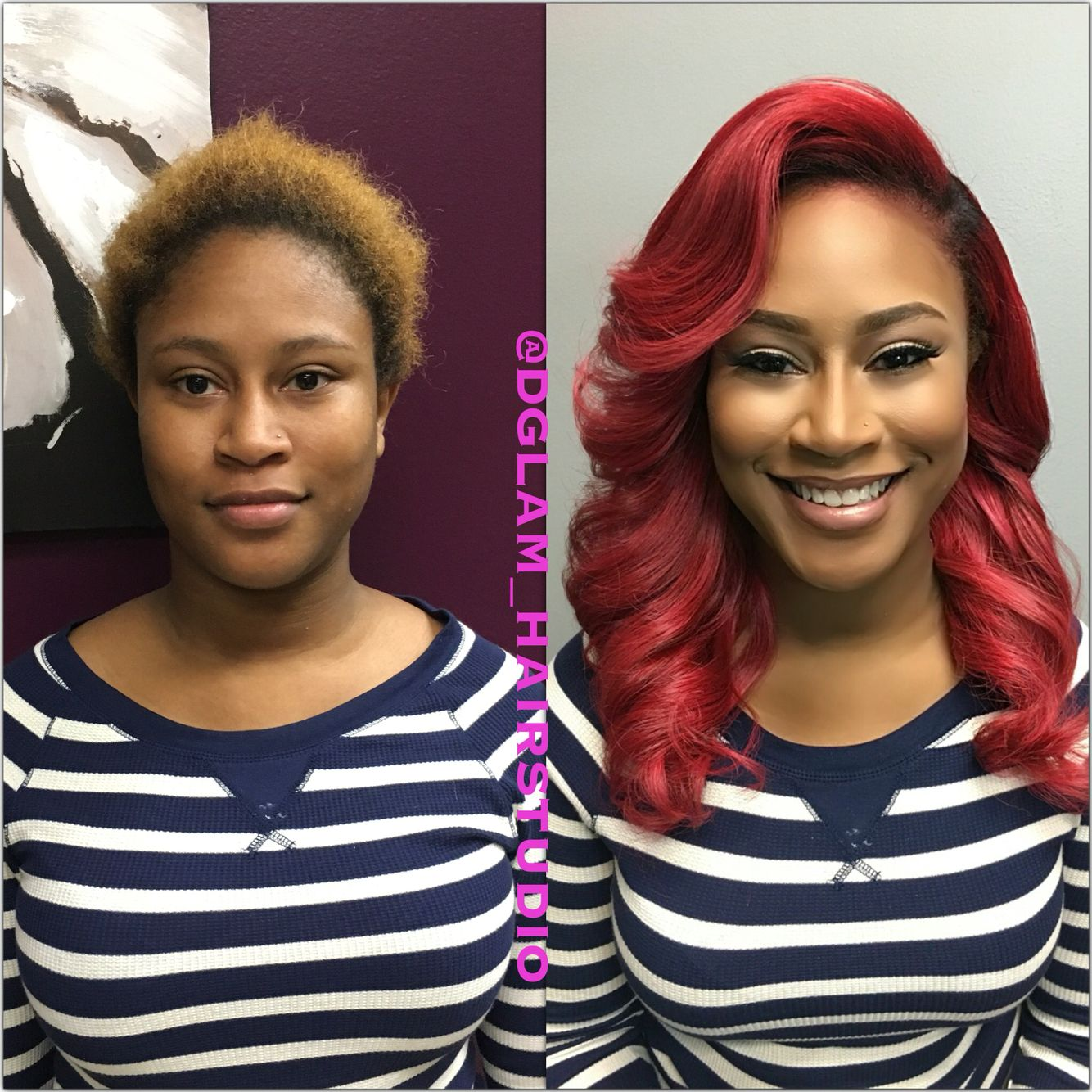 Color change online - Transformation Tuesday Full Sewin Custom Color Change Red Hair Blonde To Red