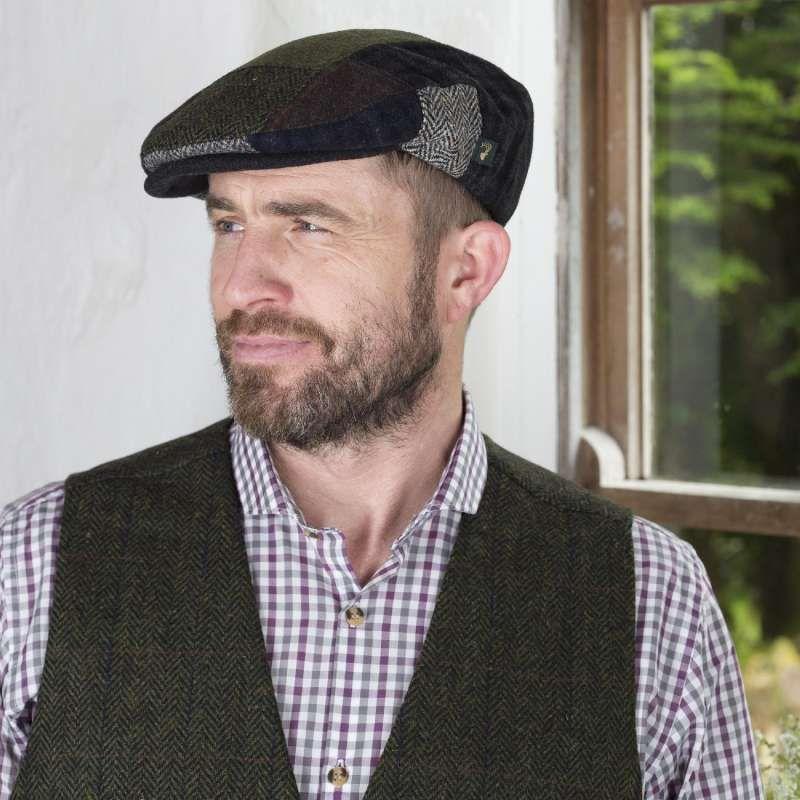 e92c457d5e6bd Mens Irish Tweed Patchwork Cap. This Irish flat cap comes in the classic  patchwork design.