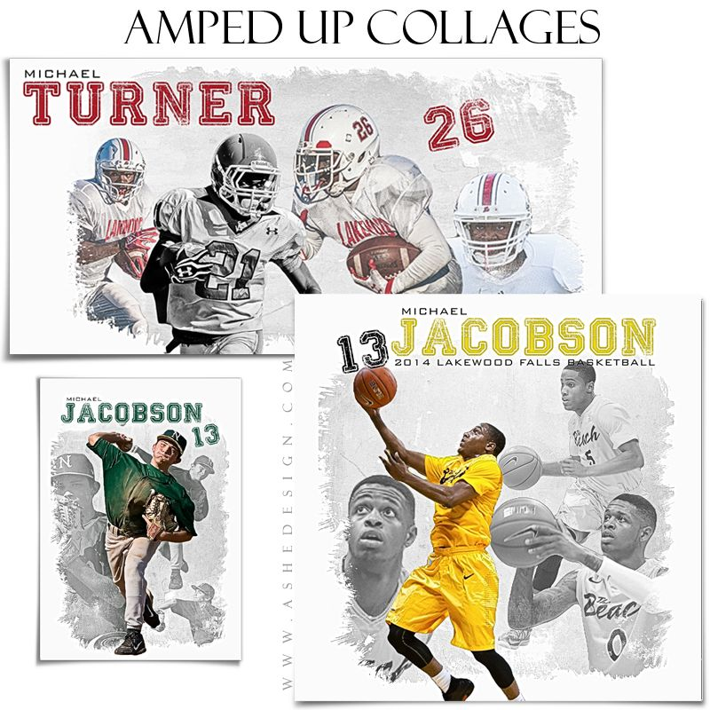 amped collage set 5x7 12x12 10x20 game day sports photography
