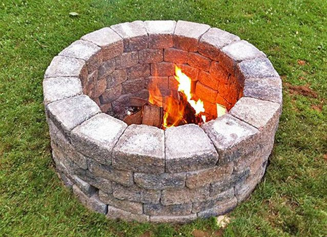 Build Your Own Outdoor Fire Pit Aubuchon Hardware Diy Fire Pit Backyard Fire Fire Pit