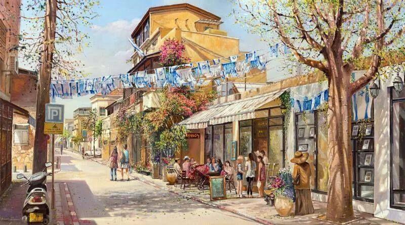 """Independence day in Nevei Zedek, Tel Aviv"" by Alex Levin"