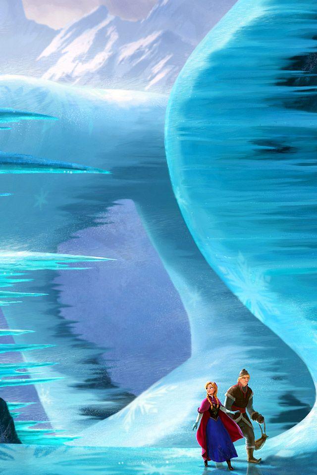 frozenwalk parallax HD iPhone iPad wallpaper Disney