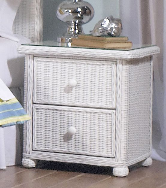 Wicker 2 Drawer Nightstand Elana Wicker Bedroom Furniture White Wicker Bedroom Furniture White Wicker Furniture