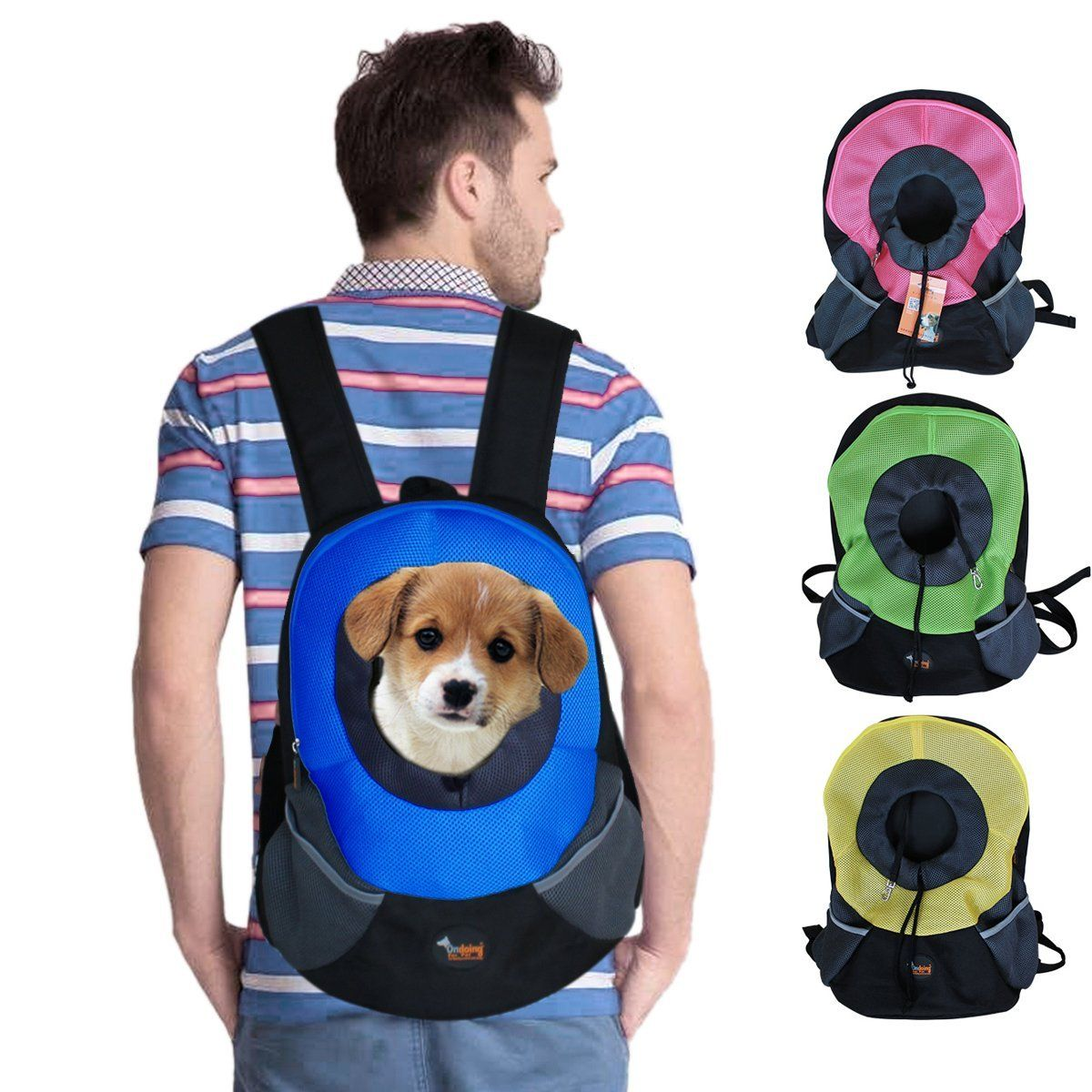 Ondoing Pet Carrier Backpack Dog Travel Bag Pet Front Carrier Bag