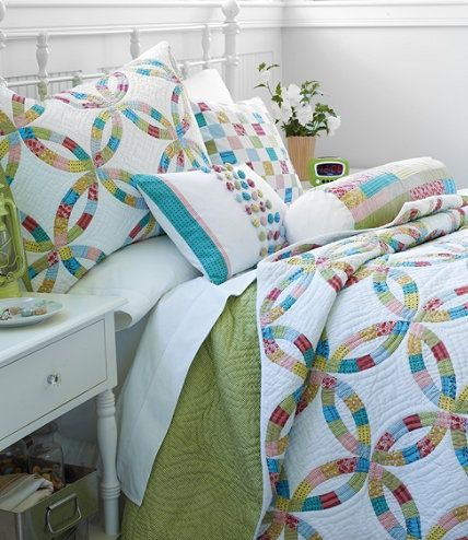 double wedding ring quilting stencils Wedding Ring Quilt Double