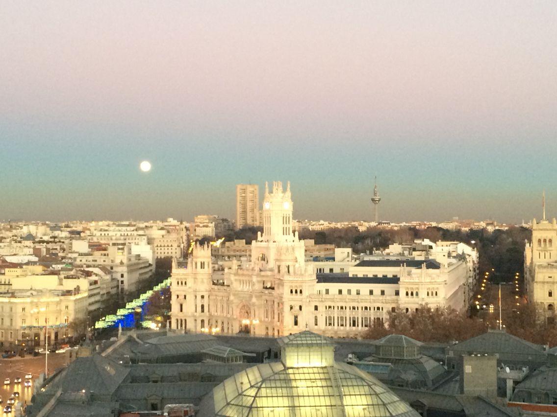Night Skyline Madrid