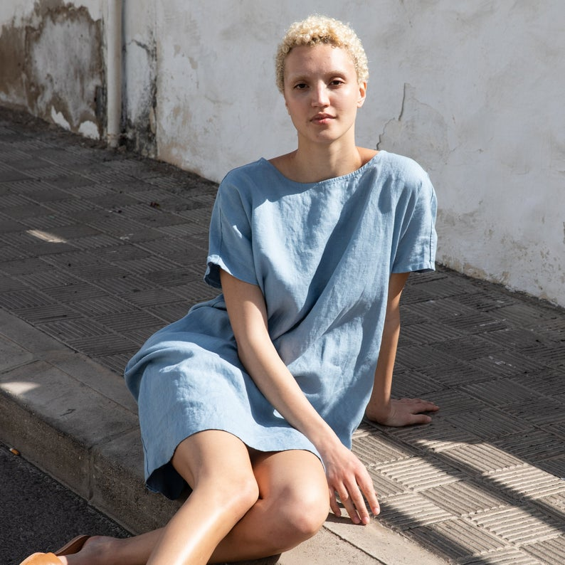 Washed linen tunic COFETE /Linen tunic / Linen dress #linentunic