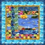 Island Sanctuary: Cotton Tropical Fabric: Robert Kaufman Fabric Company.
