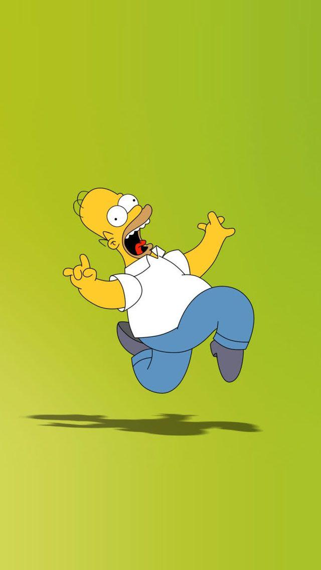 Art Creative Funny Simpsons Homer Cartoon HD IPhone Wallpaper