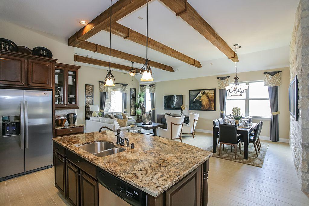 Gehan Homes Kitchen Wooden Ceiling Beams, Granite