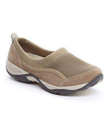 Love this Taupe Ebnor Suede Slip-On Walking Shoe on #zulily! #zulilyfinds