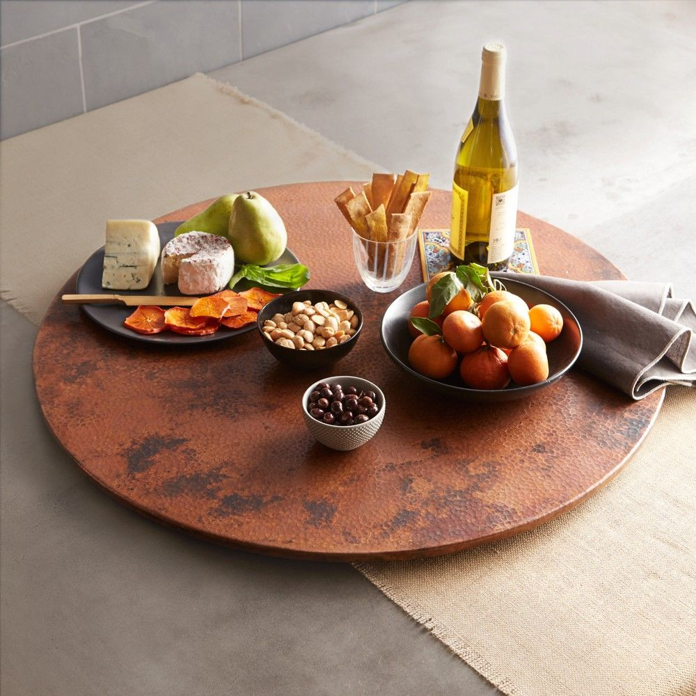 "Large Lazy Susan Alluring 30"" Copper Lazy Susan  Copper Kitchen Kitchen Dining And Dining Inspiration Design"