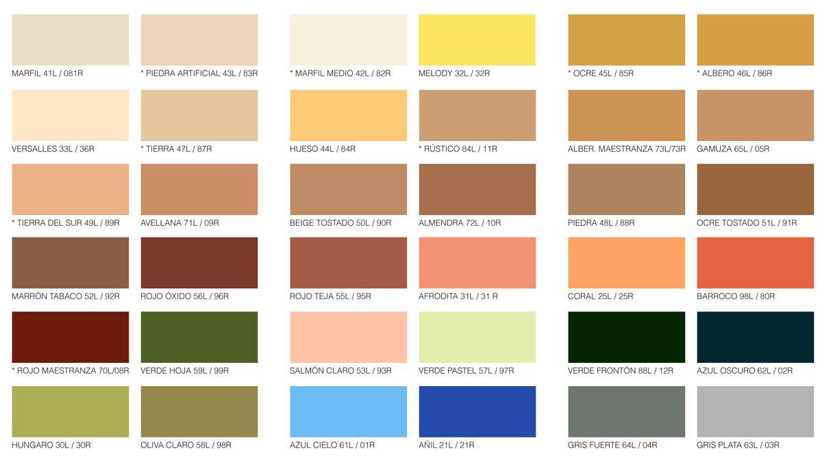 Carta De Colores Reveliso Carta De Colores Paletas De Colores Colores De Pintura