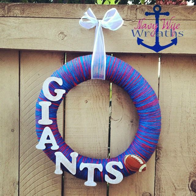 New York Giants Wreath