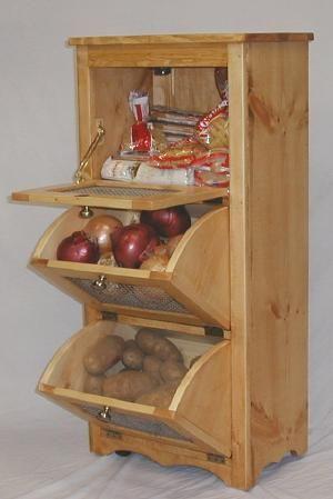 Potatoe And Onion Storage Bin Plans Potato Storage