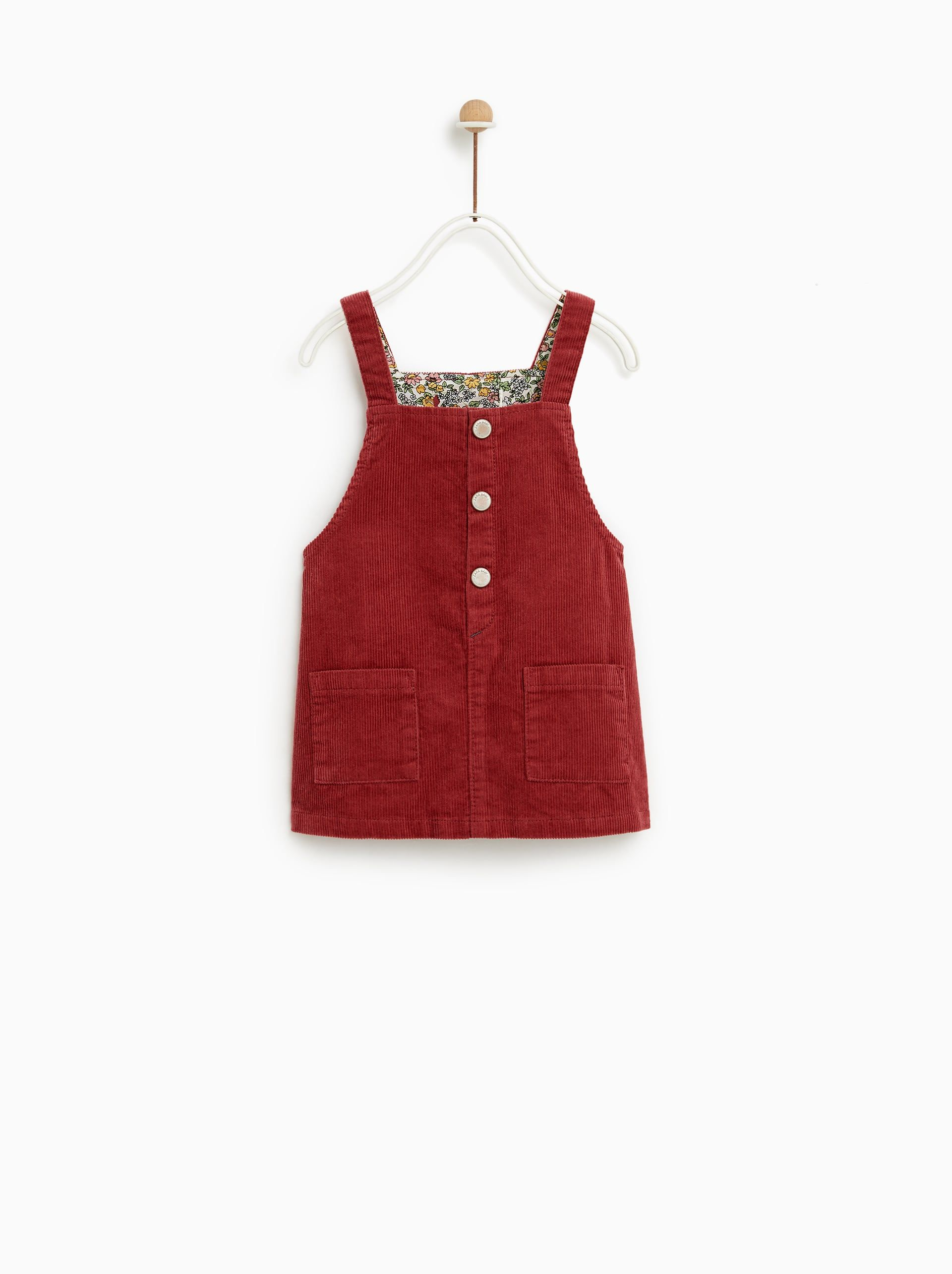 99f0bb9d33a Image 1 of CORDUROY PINAFORE DRESS from Zara