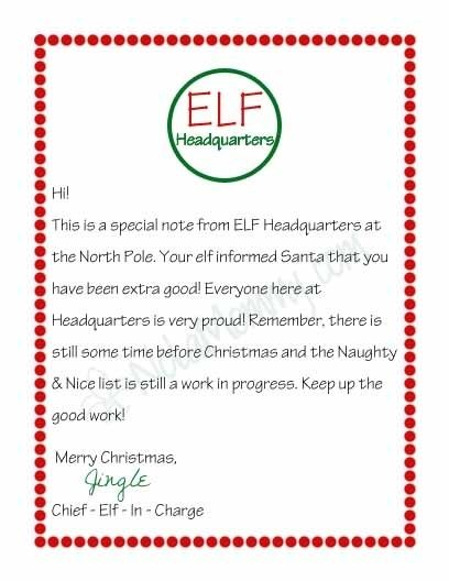 elf on the shelf arrival letter google search