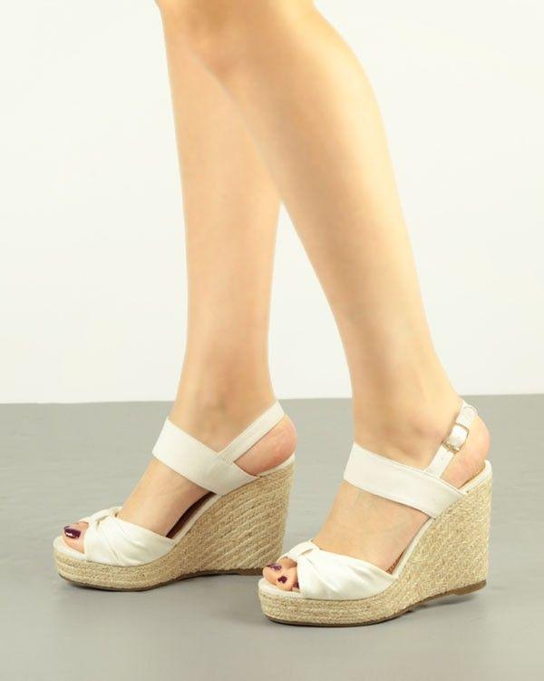 c584d5fa SANDALIA DE CUÑA Y PLATAFORMA CON FRUNCE | shoes..zapatos | Pinterest