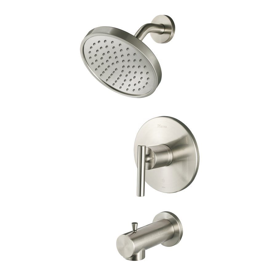Pfister Fullerton Brushed Nickel Tub And Shower Valve Included With