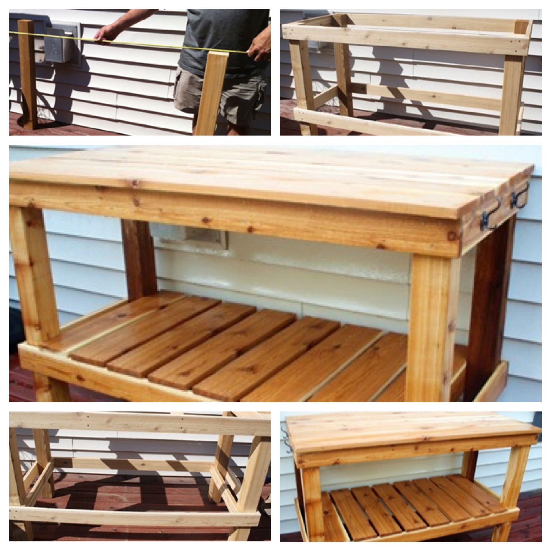 Diy Potting Bench Pallette Furniture Outdoor Sinks Diy Furniture