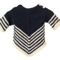 V trøje i Alpaca til baby - gratis opskrift på dansk