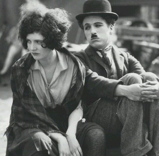 """Chaplin and Merna Kennedy in """"The Circus"""" (1927)."""