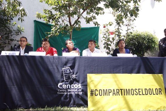 """""""Le atribuimos al Estado la desaparición forzada de nuestros compañeros"""", dijo un compañero de los 43 normalistas. Foto: Francisco Cañedo, SinEmbargo."""