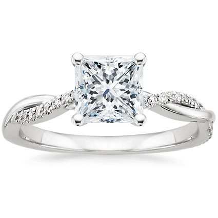 Pretty Princess Cut With A Little Twist In The Band Platinum Pee Twisted Vine Diamond Ring From Brilliant Earth Must Be