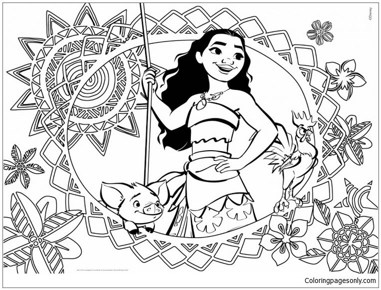 Free Coloring Pages Of Moana Photos