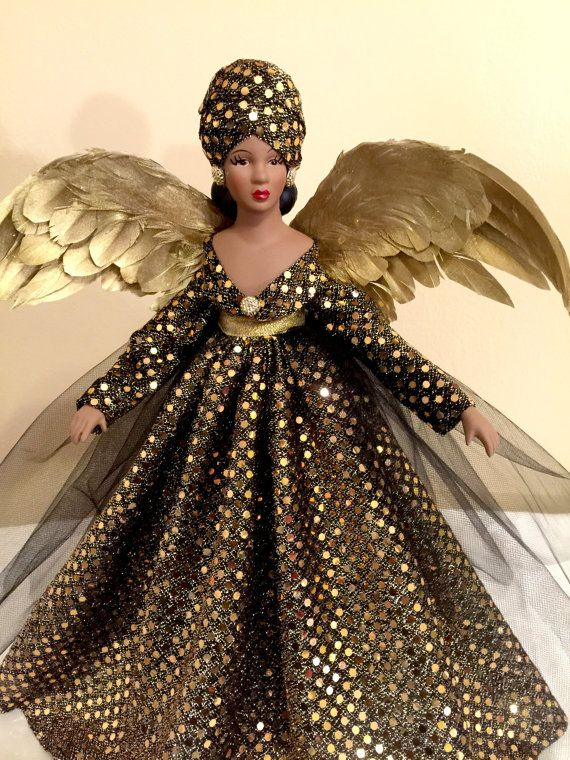 frican American Kwanzaa Christmas Angel Tree Topper OOAK Handcrafted Black  Angel Personalized Hang Tag Free Ask a Question $65.00 USD. USA (Tabytha) - African American Kwanzaa Christmas Angel Tree Topper OOAK