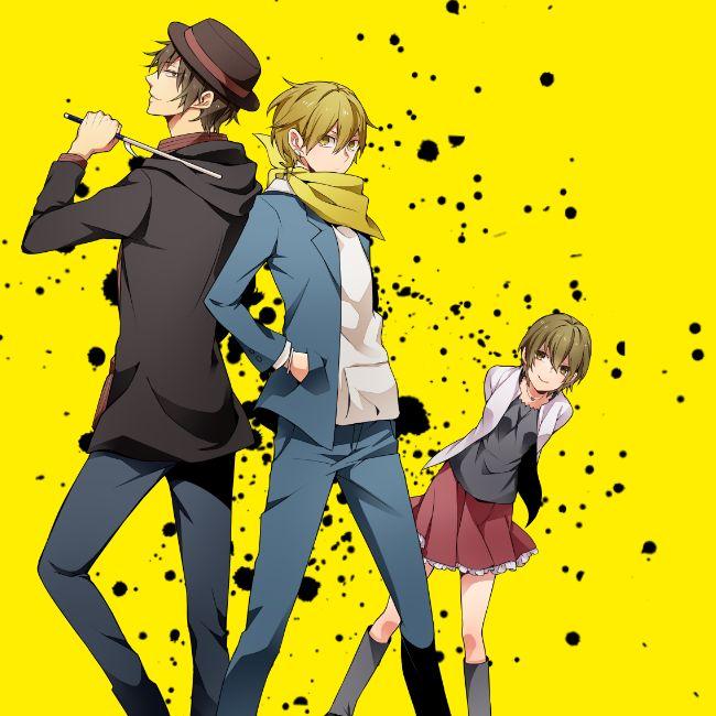 Tags: Anime, Durarara!!, Back To Back, Kida Masaomi, Mikajima Saki, Rokujo Chikage, Hand In Pocket