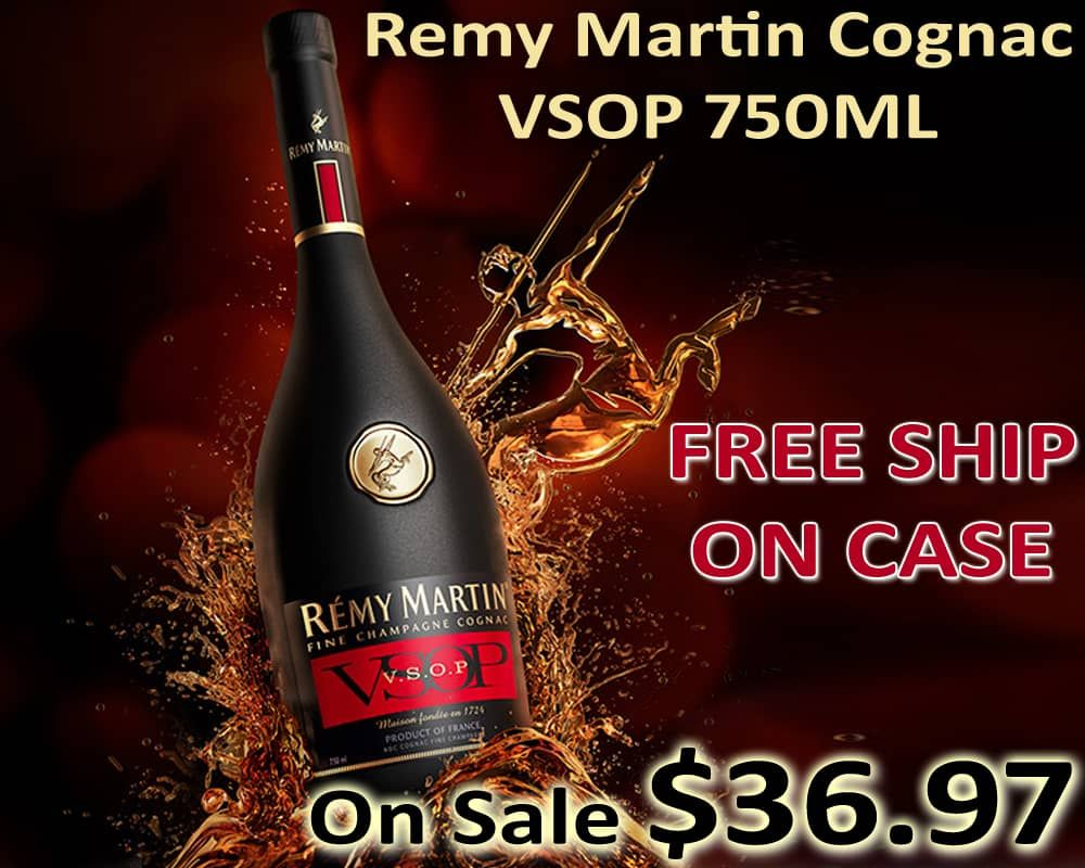 Remy Martin Cognac Vsop 750ml Free Shipping On Case Wine Discount Wine And Beer Wine Online
