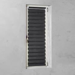 Photo of Double roller blind Basic (W x H: 60 x 150 cm, black)