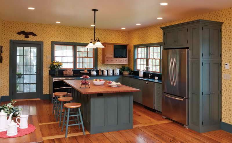 kitchen paint colors with oak cabinets with glass doors