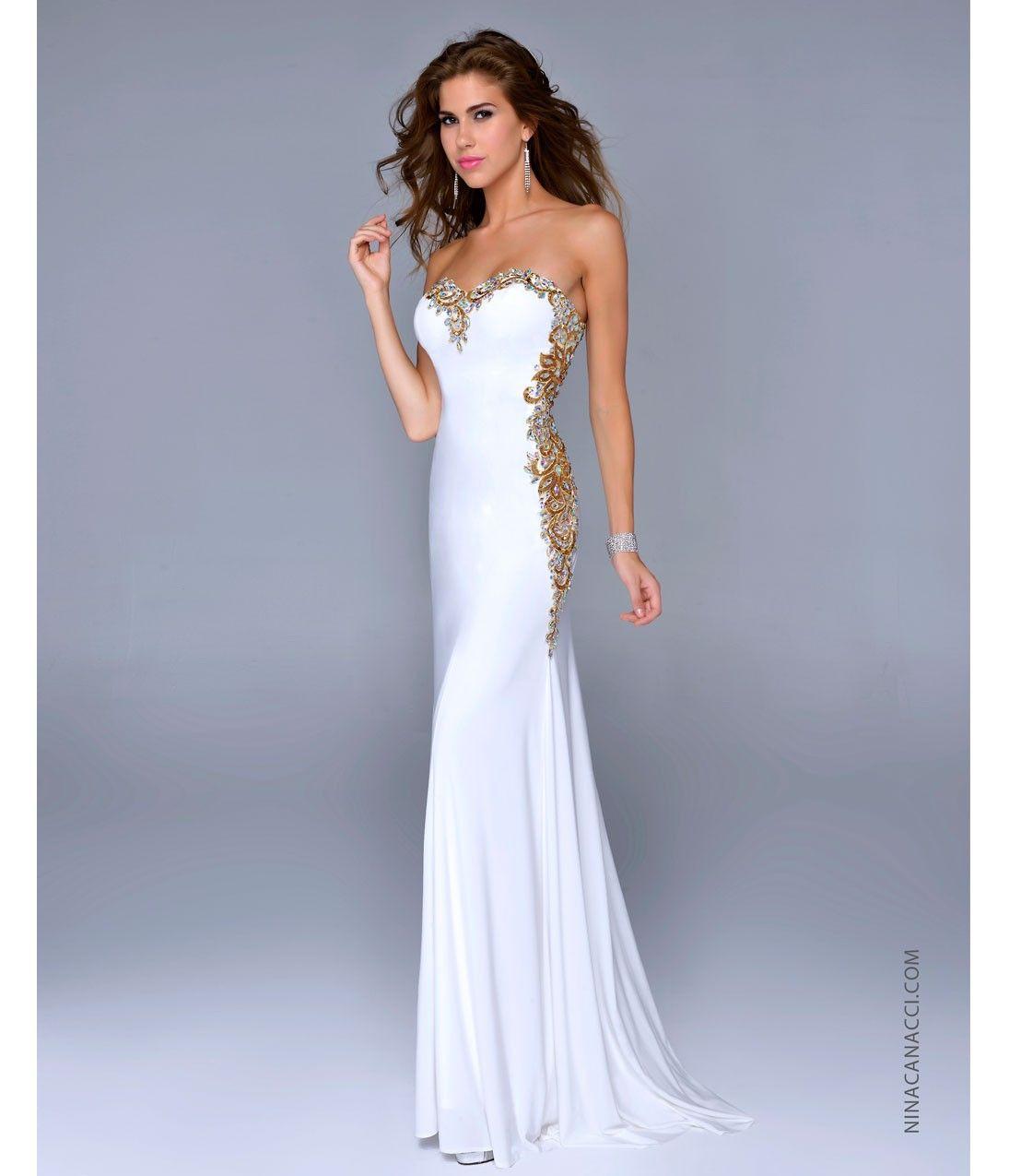 Fashion choice of white gold prom dresses photo album reikian