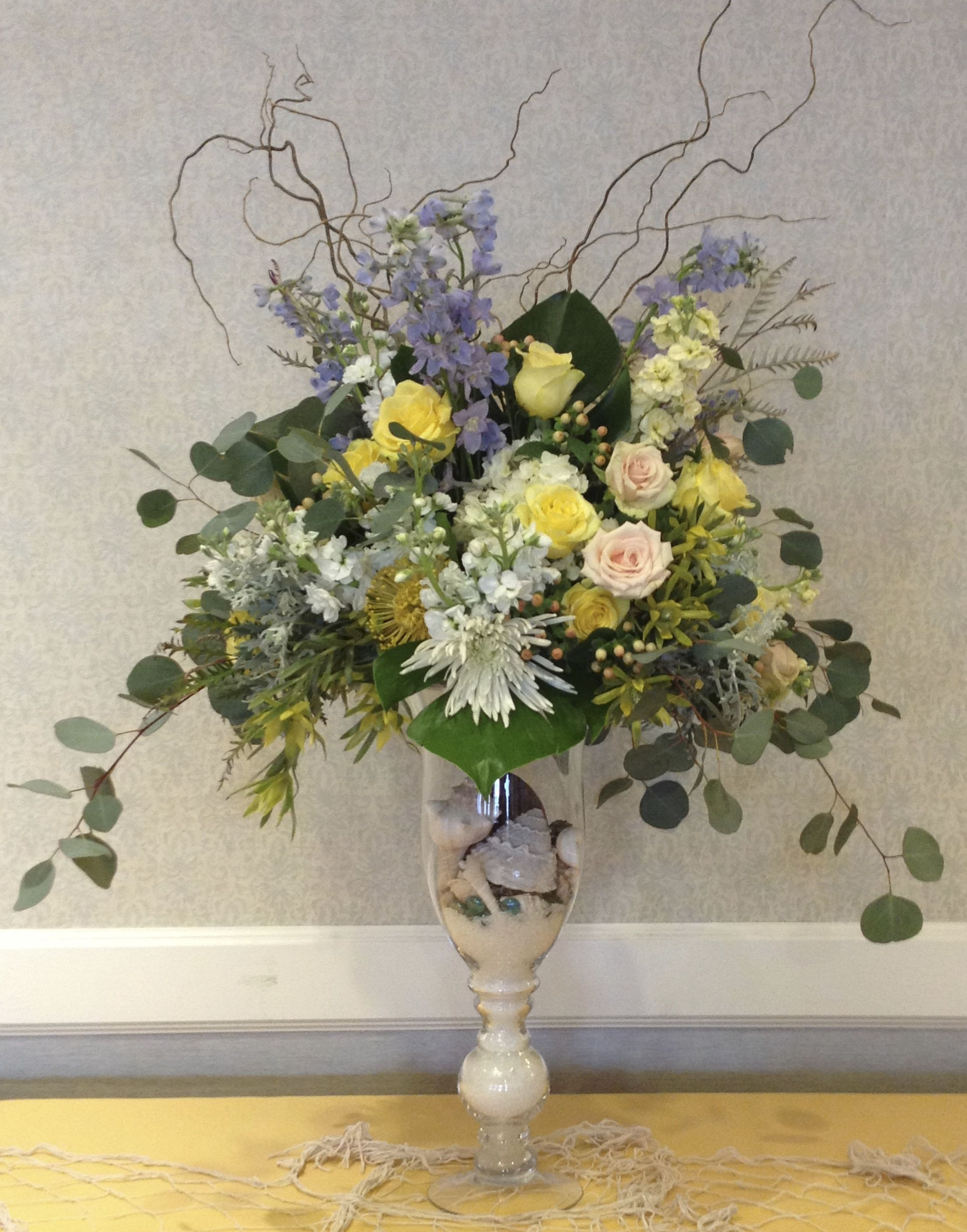 seashore themed bouquet Floral design, Floral, Floral wreath