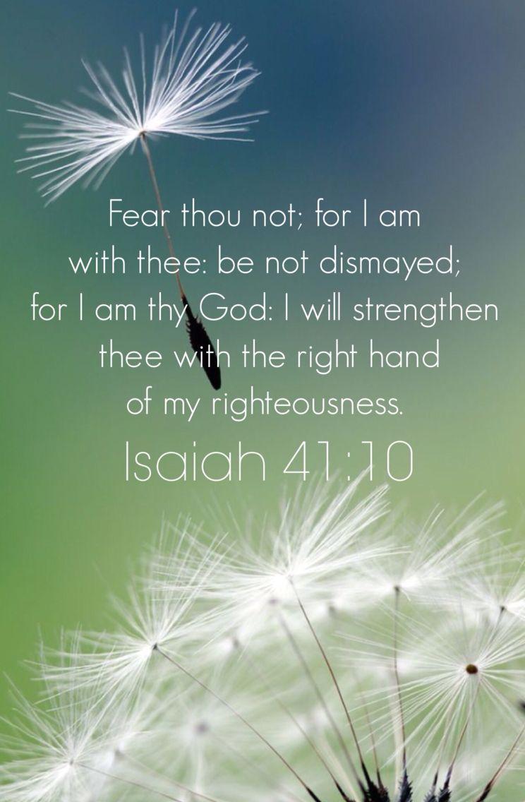 Isaiah 41:10 KJV