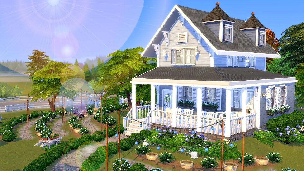 Farmhouse Gardens Sims 4 Speed Build Farmhouse Garden Sims