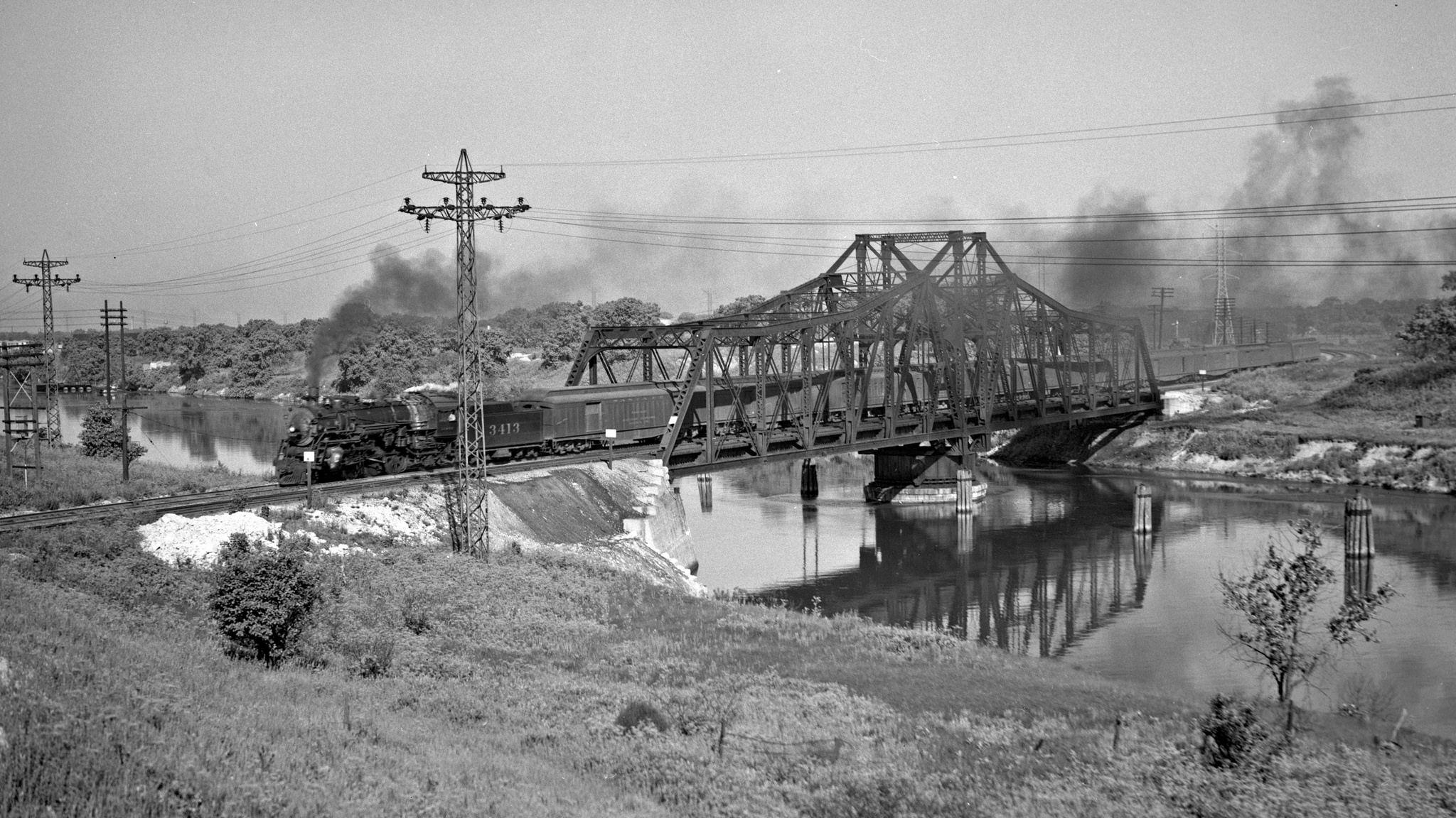 ATSF, Chicago, Illinois, 1946 Railroad photography