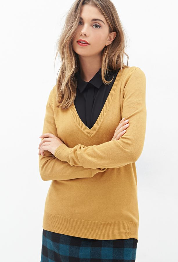 Deep V Neck Sweater | 21st, Ootd and Woman