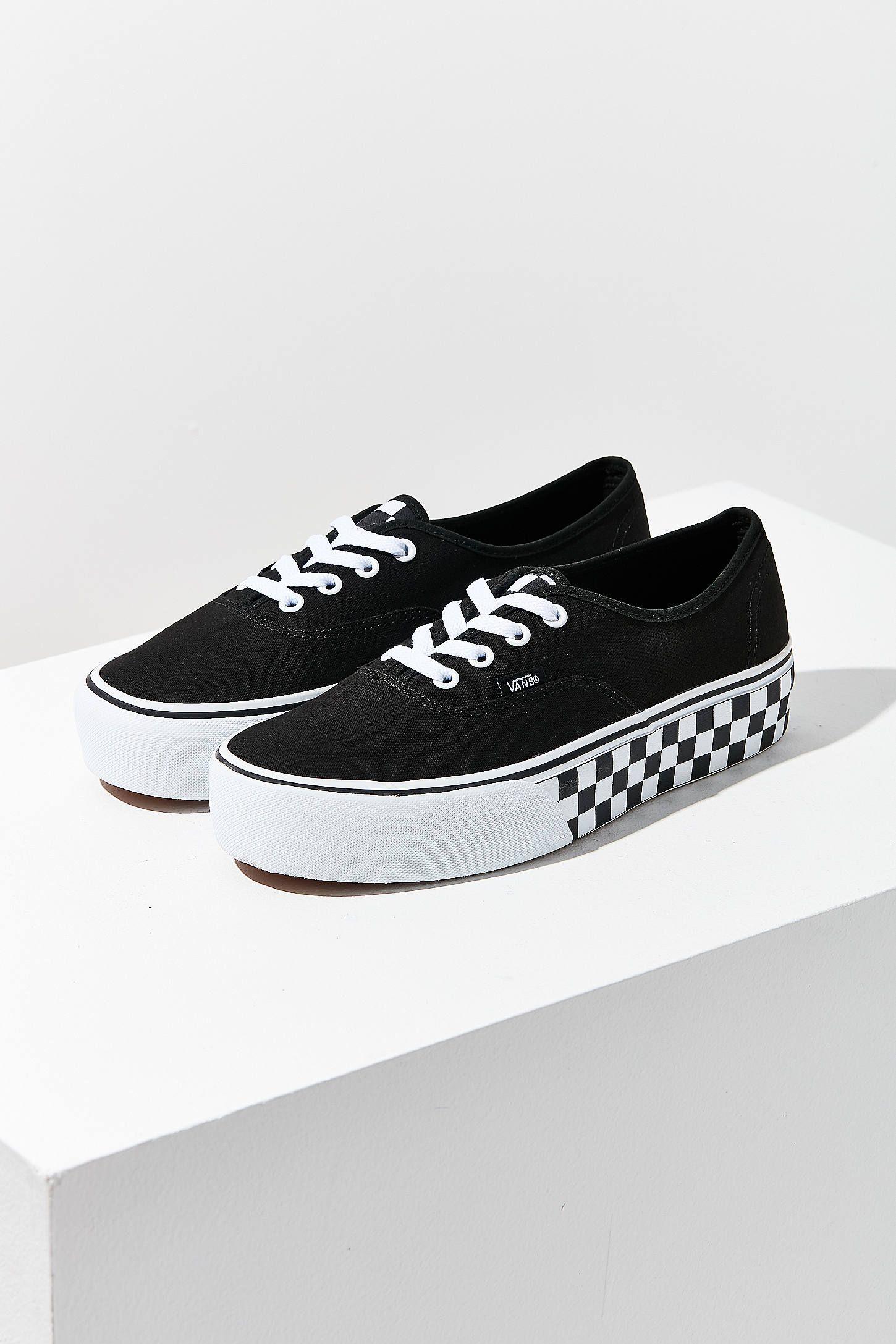 Vans Black & White Checkerboard Authentic Platform Sneakers Date De Sortie Du Jeu Profitez Pas Cher En Ligne Faire Acheter Expédition Faible Sortie 48J1t0zzL