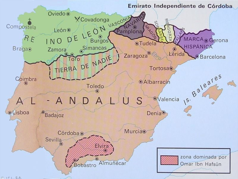 Map Of Javier Spain.Map Of Al Andalus During The Caliphate Of Cordoba History