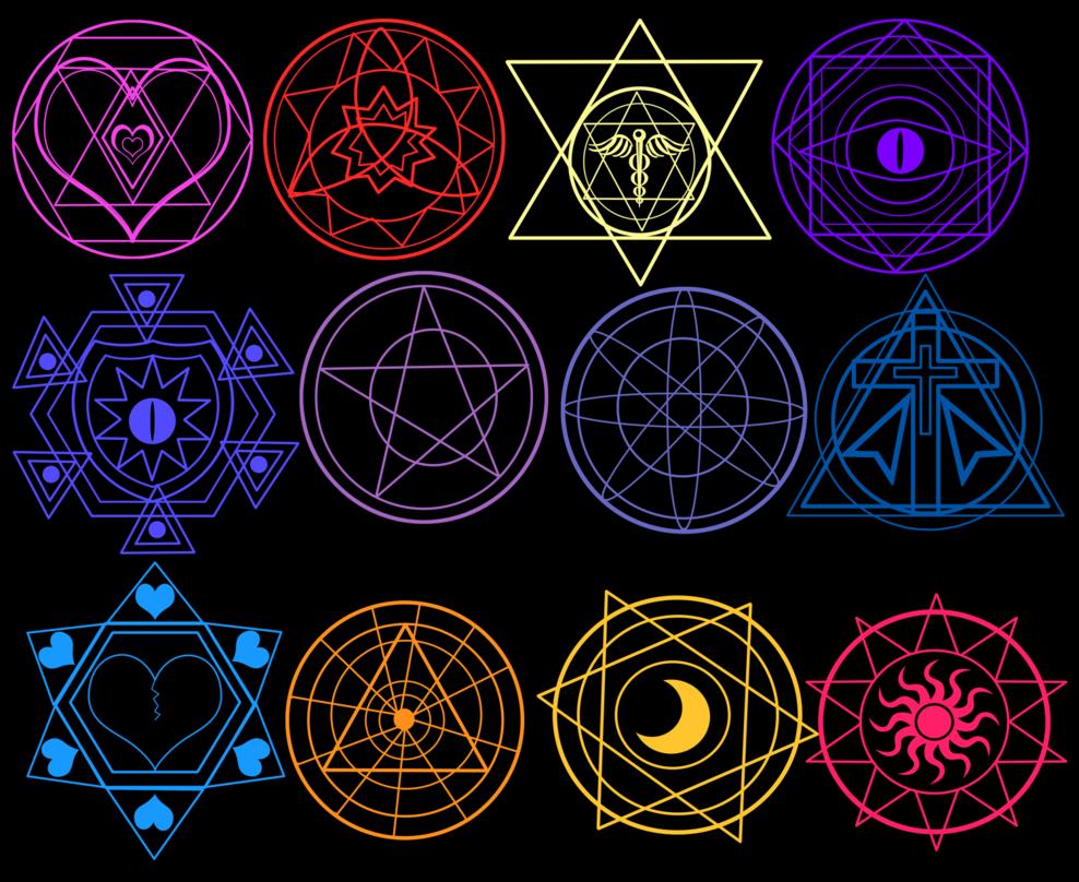 Картинки магические знаки описание