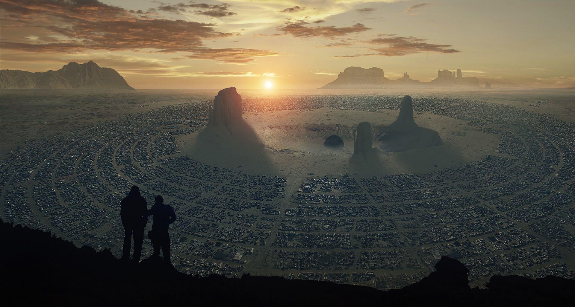 Desert discover - concept environment by julien hauville