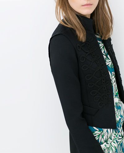 ZARA - NEW COLLECTION - SHORT JACKET WITH TOGGLES