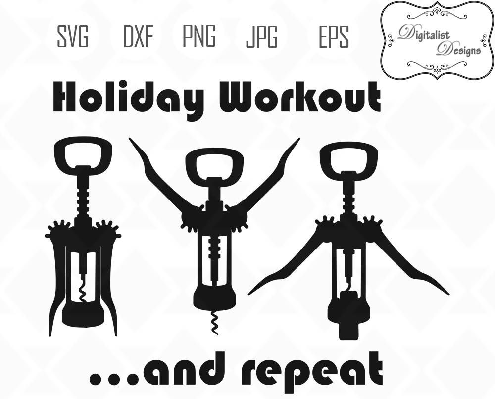 medium resolution of holiday workout svg wine clipart wine svg merry christmas clipart winter svg christmas svg silhouette vector cricut cut files supplies christmas