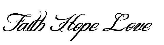 Faith Hope Love Tattoo Tattoo Vorlagen Vorlagen