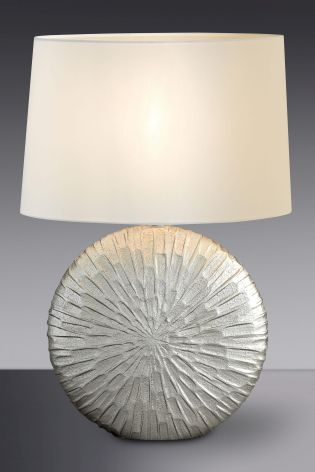 Buy texture silver finish ceramic table lamp from the next uk online buy texture silver finish ceramic table lamp from the next uk online shop aloadofball Images