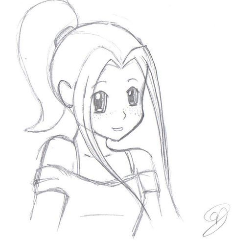 Cute anime girl easy to draw google search drawing for Girly drawings step by step